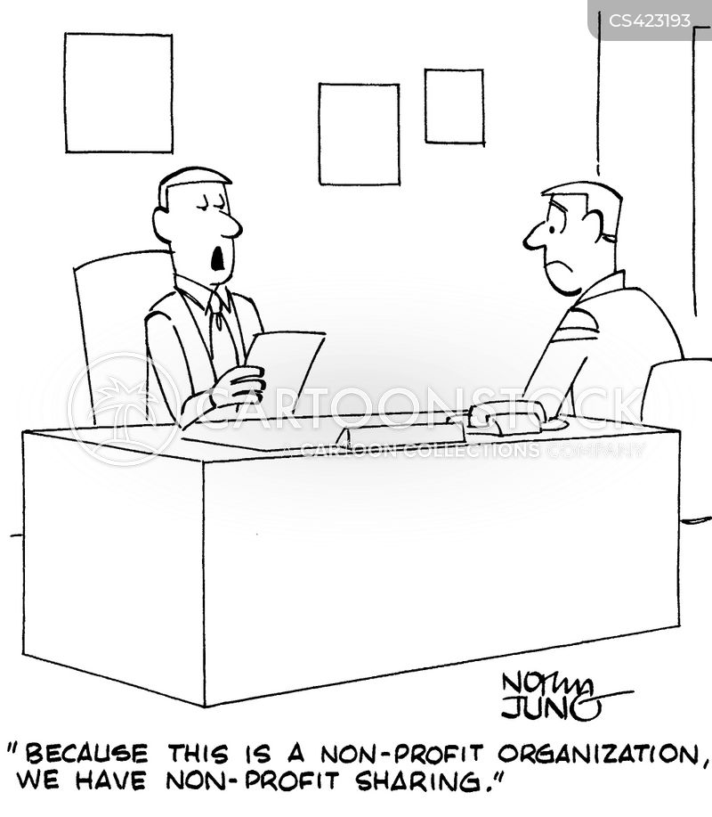 non-profit organizations cartoon