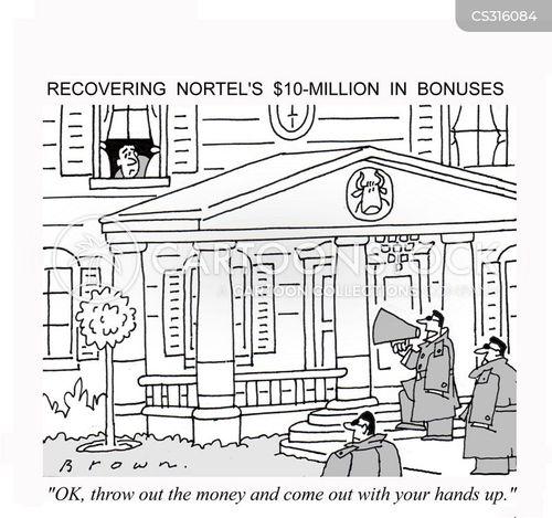 financial scandal cartoon