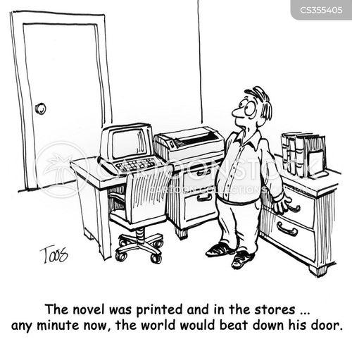 new authors cartoon