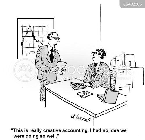 creative accounting cartoon