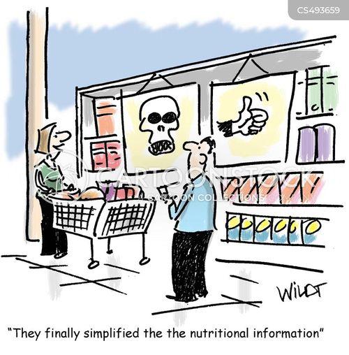 food label cartoon
