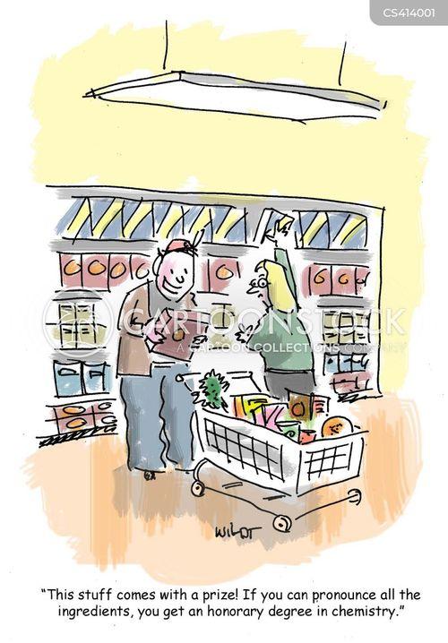 ingredients lists cartoon