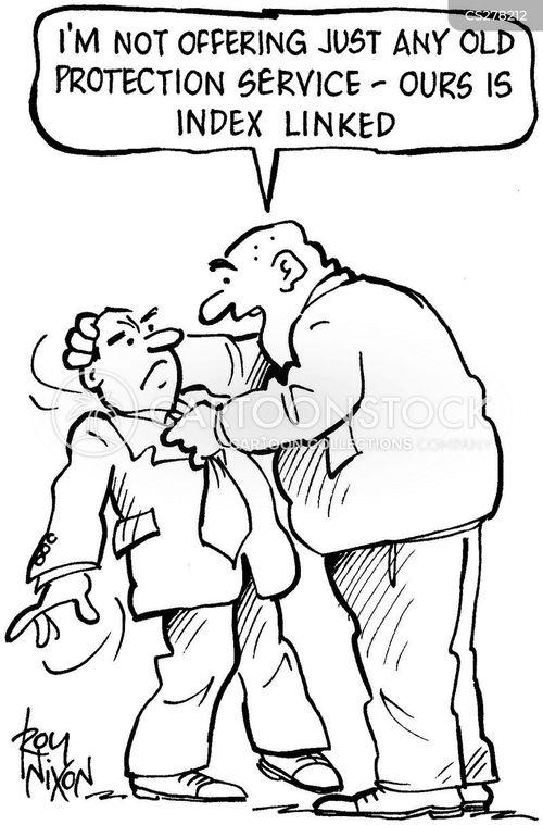 protection service cartoon