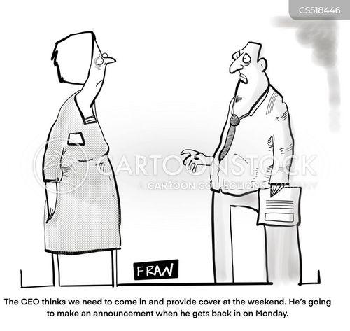 top management cartoon