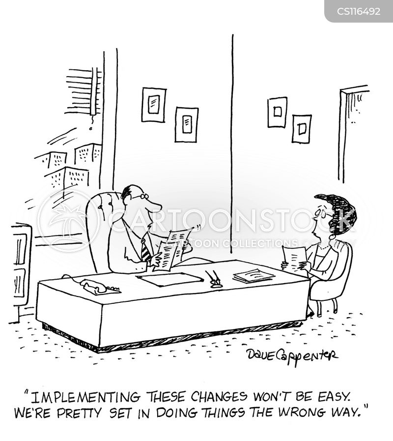 Image result for Cartoon managing change