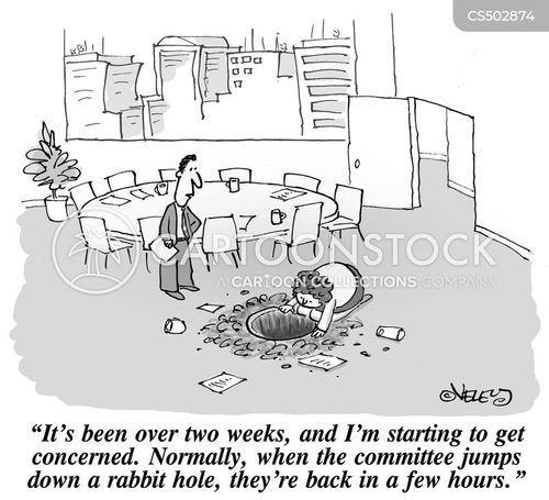 rabbit hole cartoon