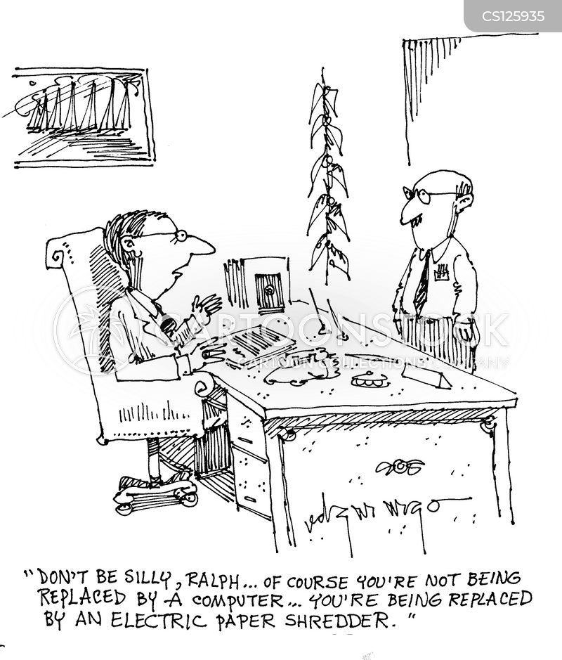 electrical shredders cartoon