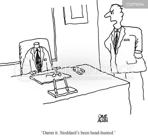 head hunt cartoon