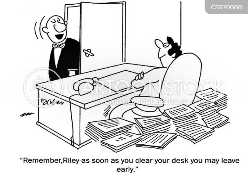 desk working cartoon