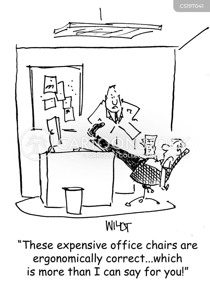 ergonomic cartoon