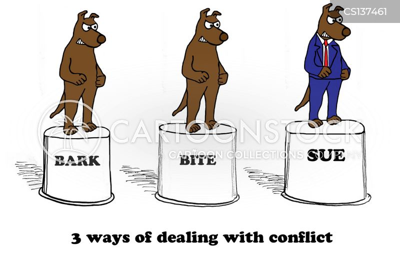 office conflict cartoon