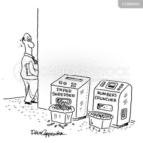 paper shredders cartoon