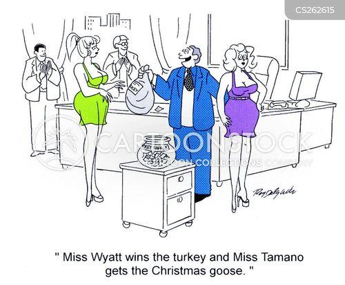 female employees cartoon