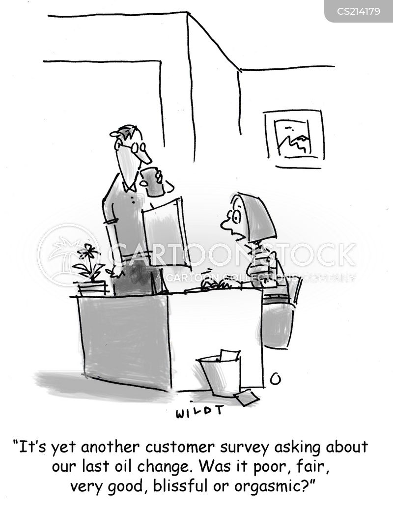 customer surveys cartoon