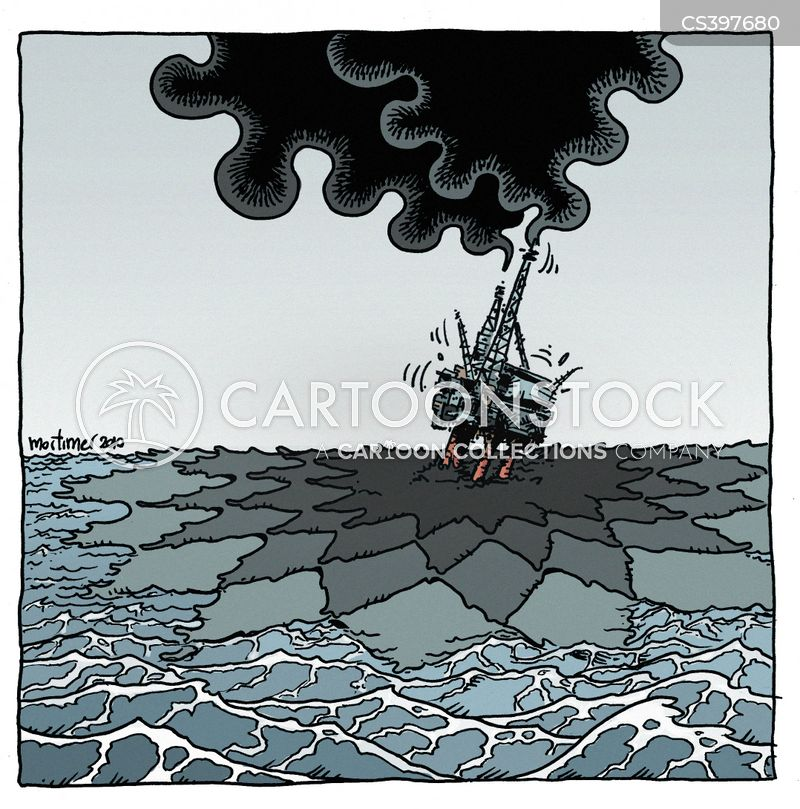 oil platform cartoon
