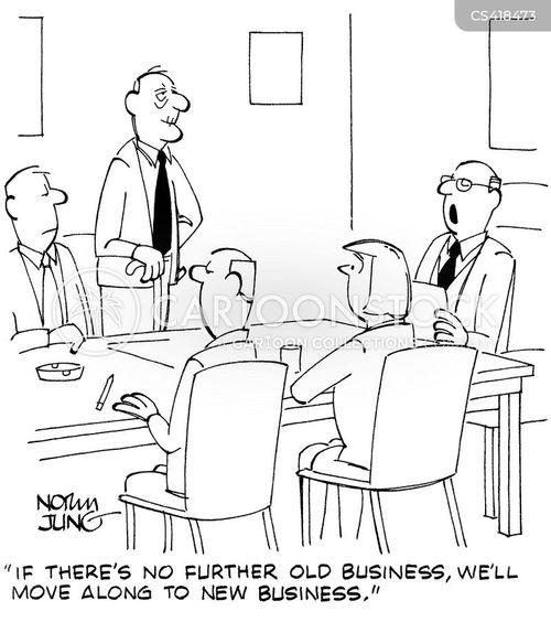 agenda for business meetings