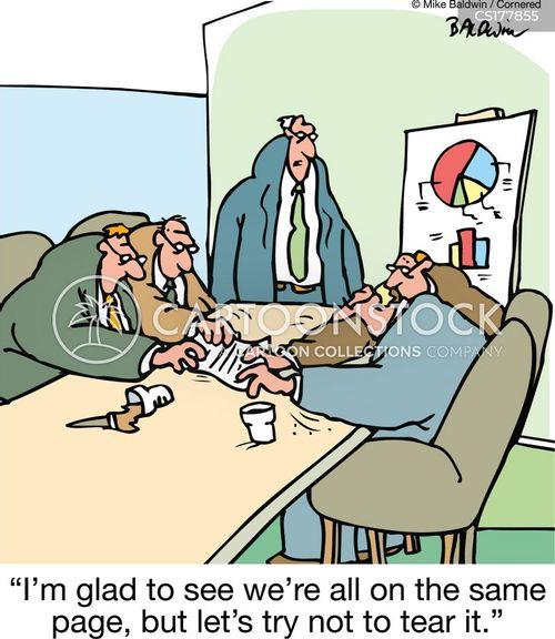 negotiates cartoon