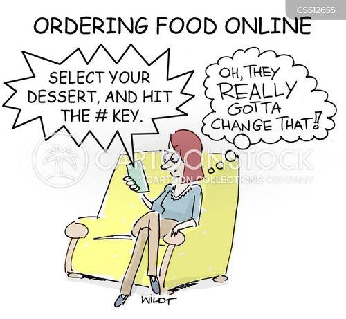 online ordering cartoon