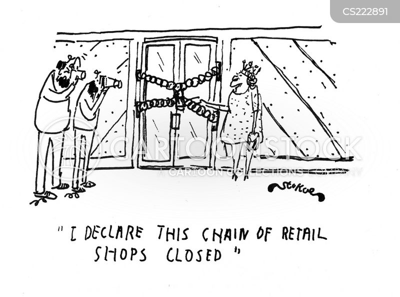 ribbon cutting cartoon