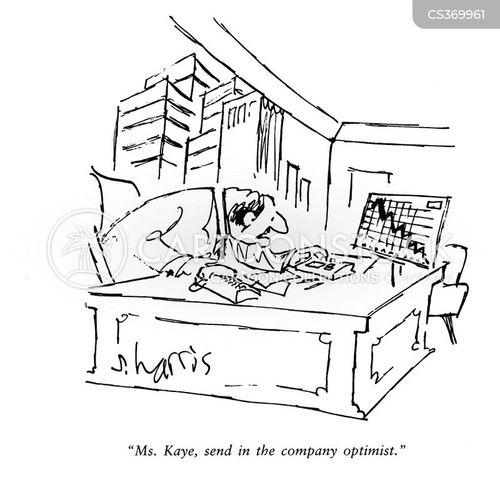 falling profit cartoon