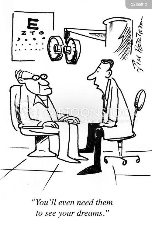 visually impaired cartoon