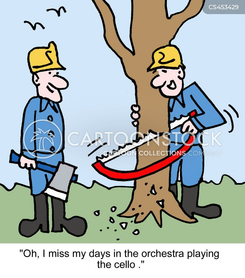 cello players cartoon