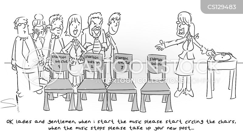 musical chairs cartoon