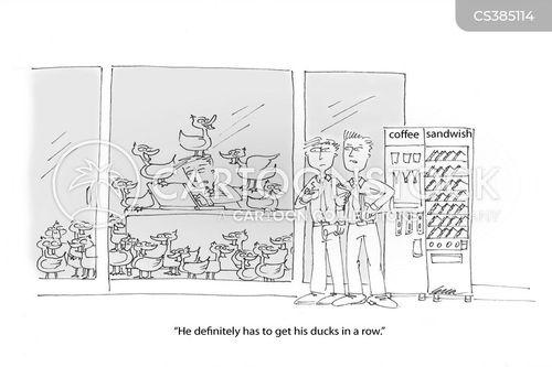 organises cartoon