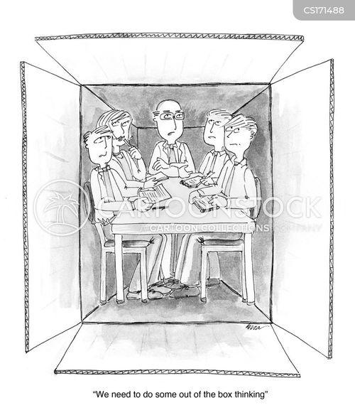 creative thinking cartoon