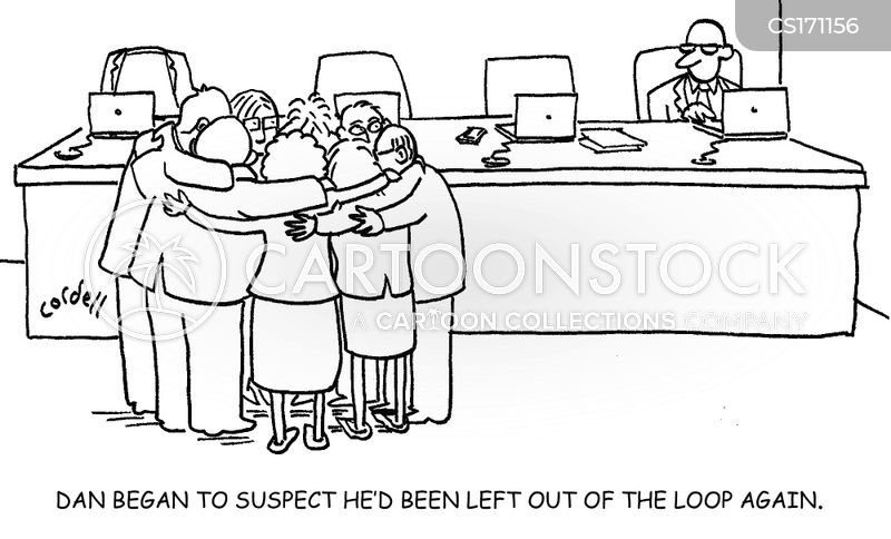 out of the loop cartoon