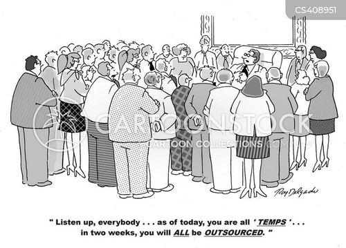 temporary worker cartoon