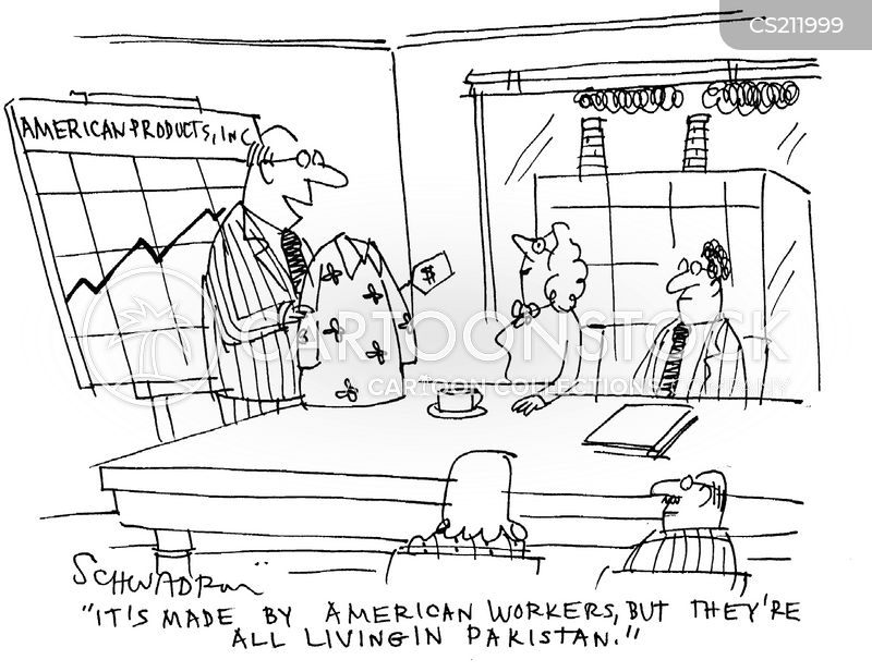 slave labour cartoon