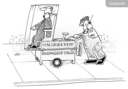 street cleaner cartoon