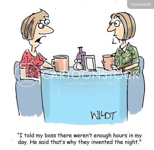 working day cartoon