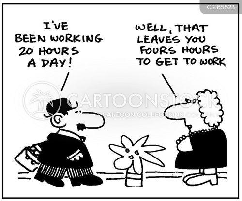 working overtime cartoon