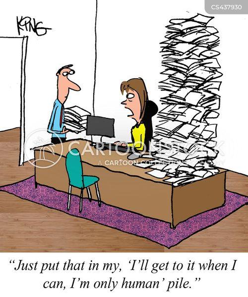over-work cartoon