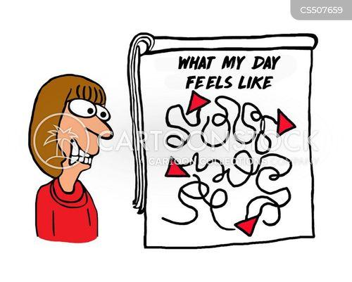 busy life cartoon