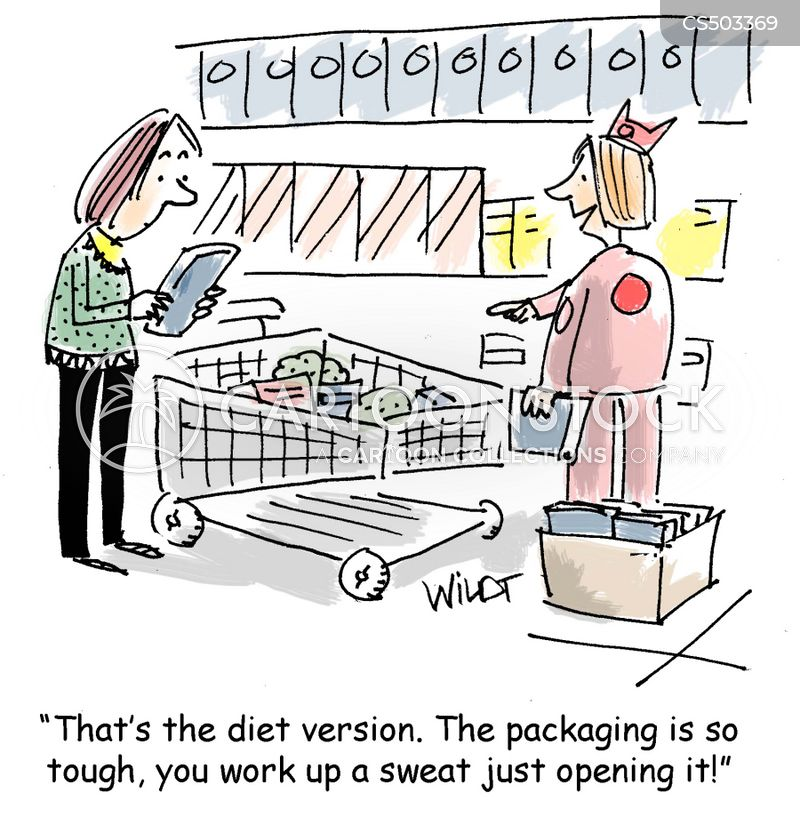 clamshell packaging cartoon