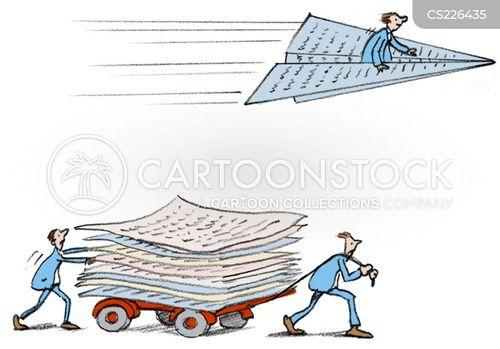 advancing cartoon