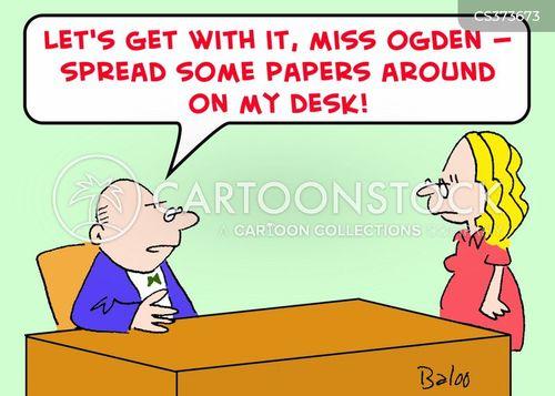looking busy cartoon
