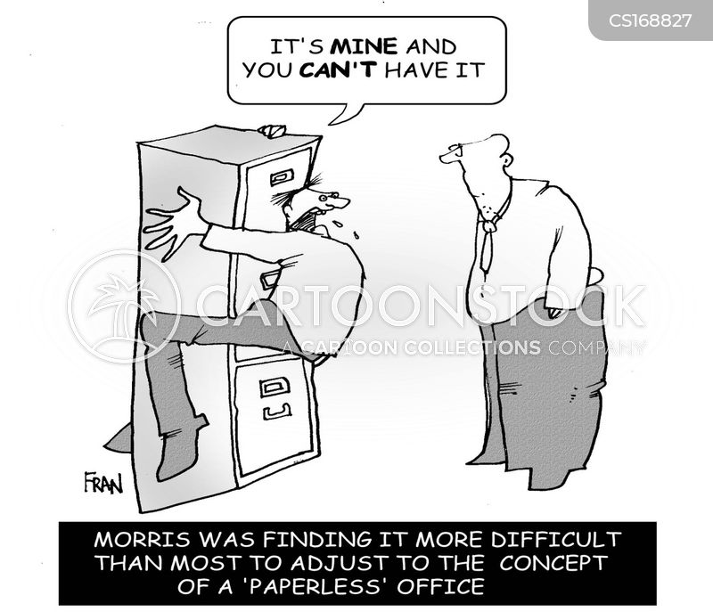 Filing Cabinet Cartoons and Comics - funny pictures from CartoonStock