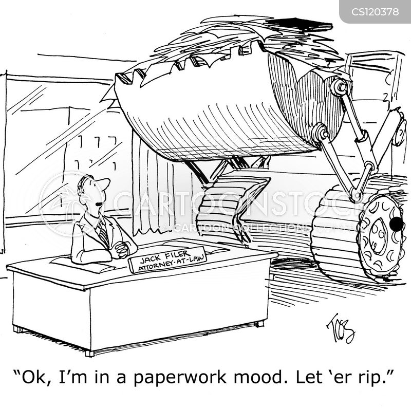paper-pusher cartoon