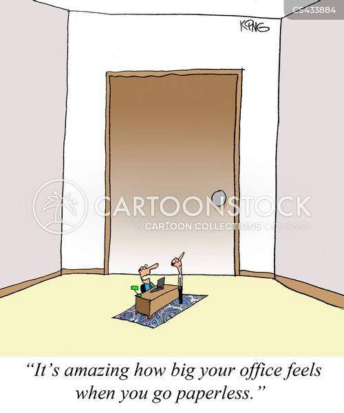 green office cartoon