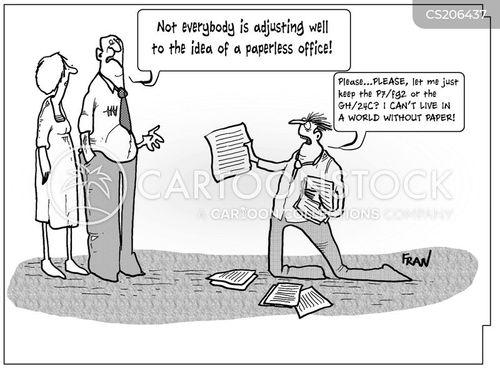 green offices cartoon