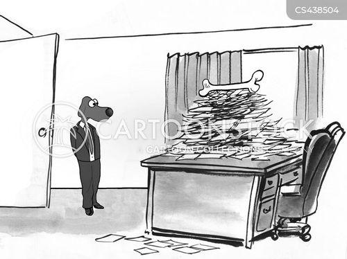 paper pushing cartoon