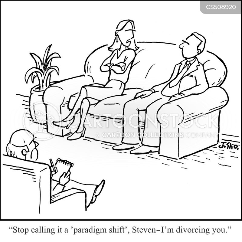 marriage breakup cartoon