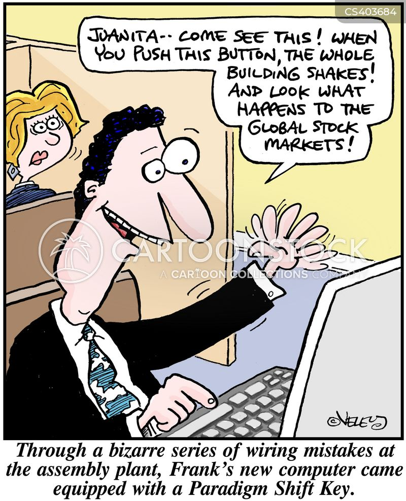 shift keys cartoon