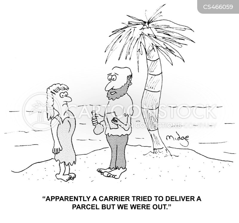 attempted delivery cartoon