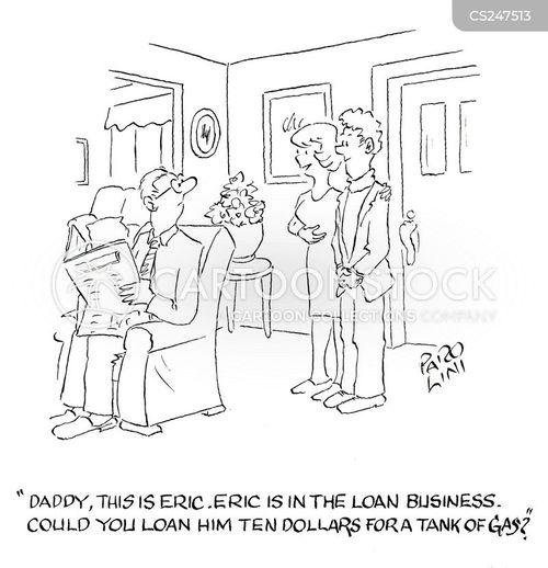 loan business cartoon