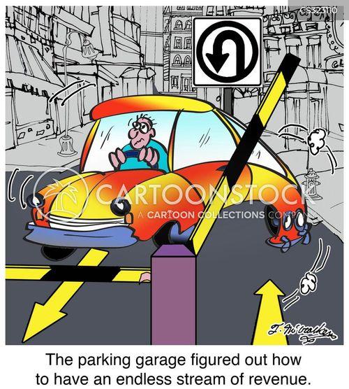 parking garage cartoon
